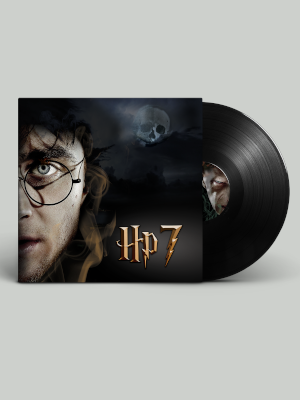 mockup of album cover and vinyl
